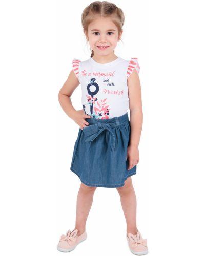 Расклешенная синяя юбка на резинке Leader Kids