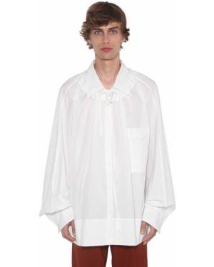 Классическая рубашка с воротником с заплатками с манжетами на кнопках Botter
