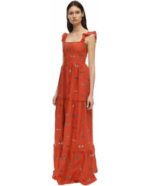 Платье с вышивкой на бретелях Agua By Agua Bendita
