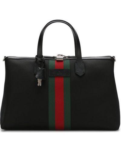 Дорожная сумка текстильная с логотипом Gucci
