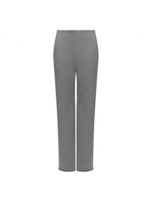 Хлопковые серые брюки Mm6