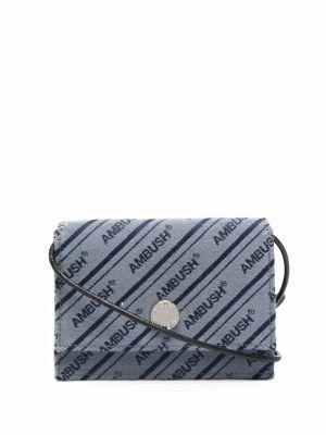 Niebieski portfel w paski z printem Ambush