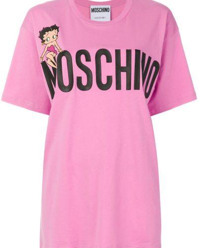 Футболка свободная с логотипом Moschino