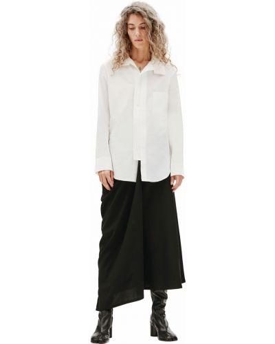 Комбинированная рубашка - белая Y`s