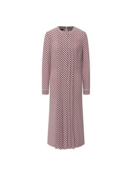 Шелковое розовое платье Escada