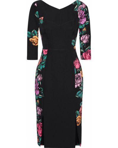 Текстильное черное платье с подкладкой Black Halo