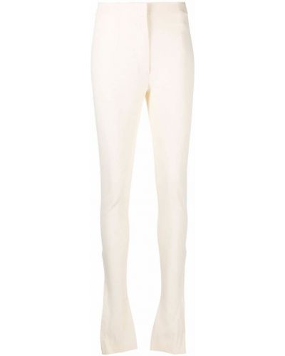Lniane lniane spodnie - białe Jacquemus