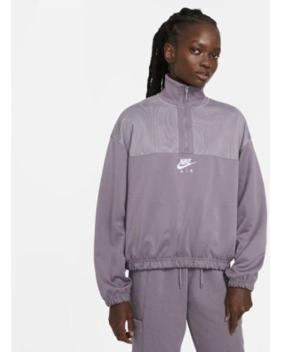 Bluzka na gumce z kołnierzem z mankietami Nike