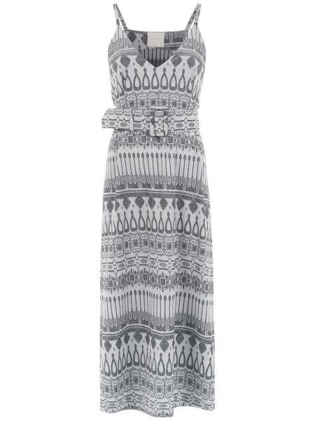 Платье миди на бретелях с V-образным вырезом Framed
