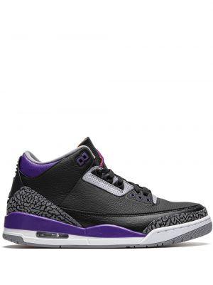 Кожаные черные кроссовки Jordan