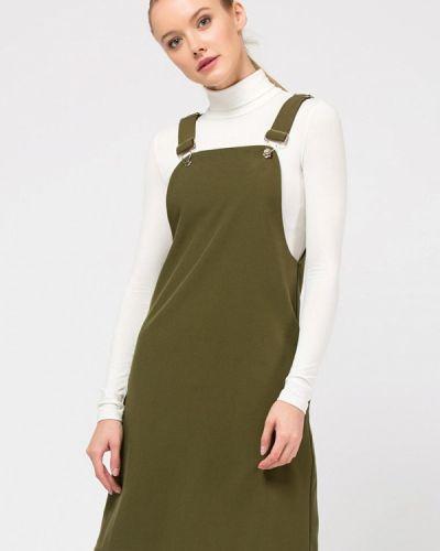 Повседневное платье осеннее зеленый Remix