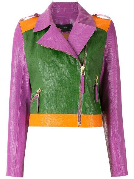 Кожаная куртка на молнии Eva