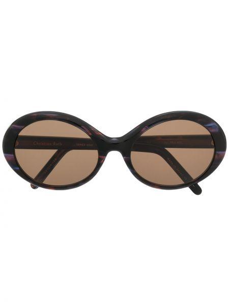Муслиновые фиолетовые солнцезащитные очки круглые Christian Roth