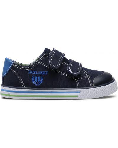 Кожаные кроссовки - синие Pablosky