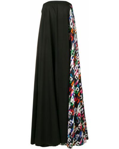 Платье с поясом черное без бретелек Misbhv