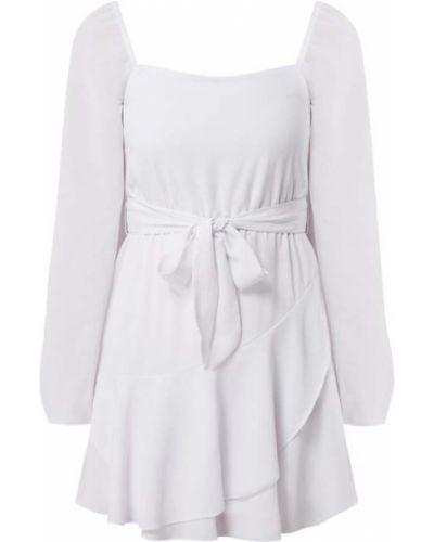 Biała spódnica mini rozkloszowana z falbanami Na-kd