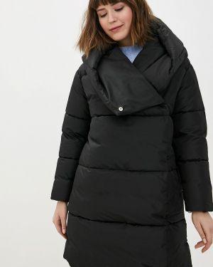 Теплая черная утепленная куртка Imocean
