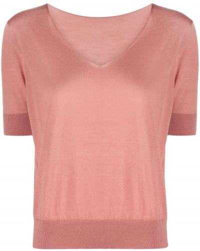 Шерстяной розовый топ Roberto Collina