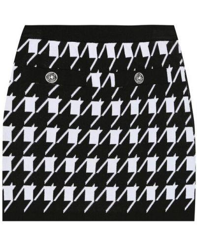 Czarna spódnica z wiskozy Balmain Kids