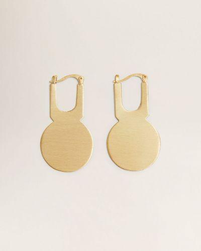 Золотые серьги металлические золотой Mango
