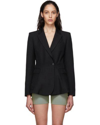 Пиджак черный в полоску Jacquemus