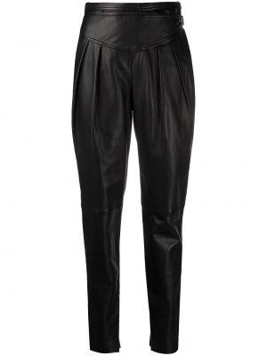 Czarne spodnie skorzane Redvalentino