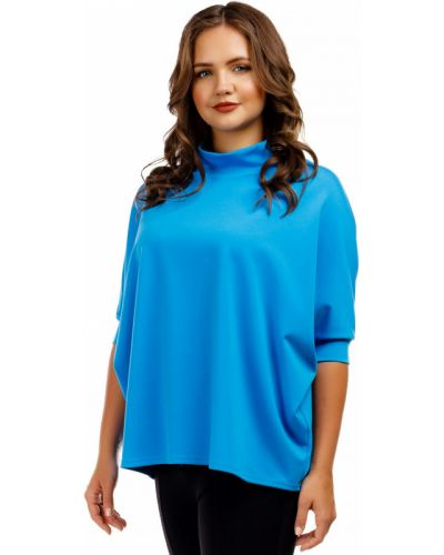 Блузка летучая мышь - голубая Liza Fashion