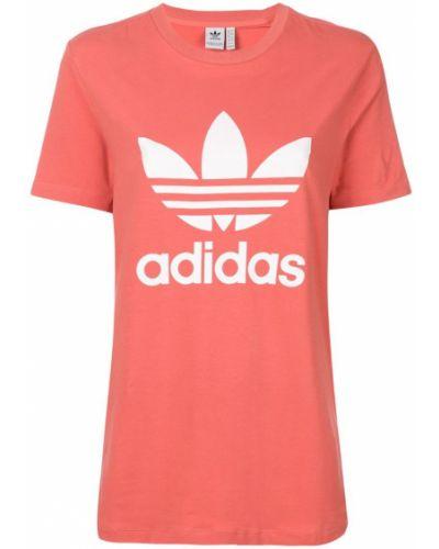 Футболка с логотипом стрейчевая прямая Adidas