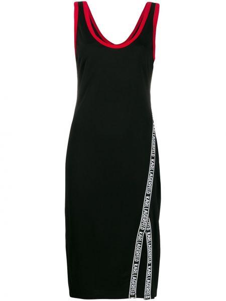 Платье миди на кнопках с рукавами Karl Lagerfeld