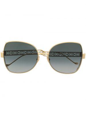 Prosto okulary przeciwsłoneczne dla wzroku metal złoto z motylem Elie Saab