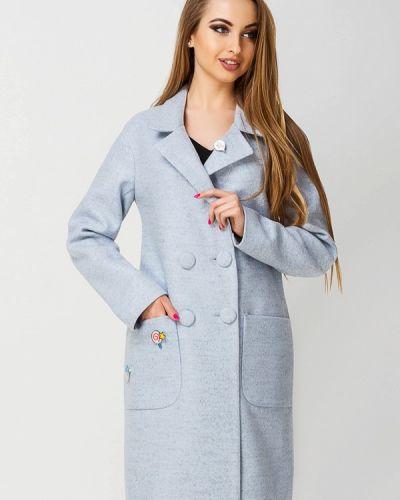 Голубое пальто весеннее Leo Pride