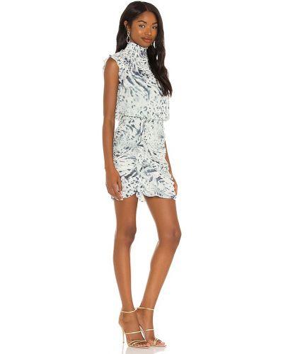 Текстильное восточное платье на молнии с оборками Allsaints