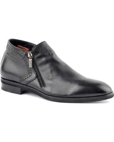 Кожаные ботинки осенние черные Mirko Ciccioli