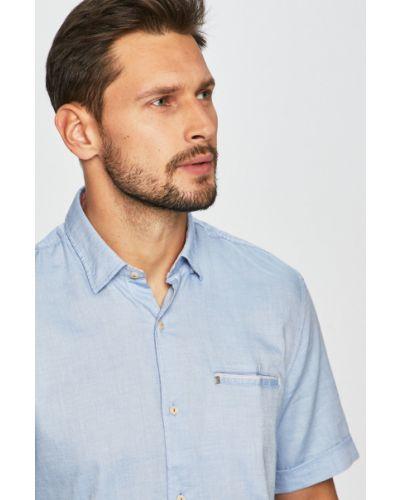 Рубашка с короткими рукавами однотонная хлопковая Pierre Cardin