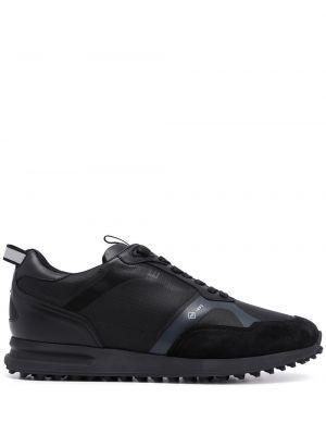 Czarne buty sportowe na obcasie Dunhill