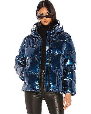 Дутая куртка на молнии с карманами Kendall + Kylie