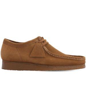 Кожаные туфли замшевые с логотипом Clarks Originals