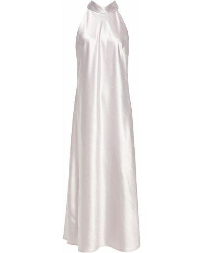 Серебряное платье миди атласное Galvan  London