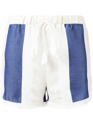 Белые шорты в полоску с поясом Martha Medeiros
