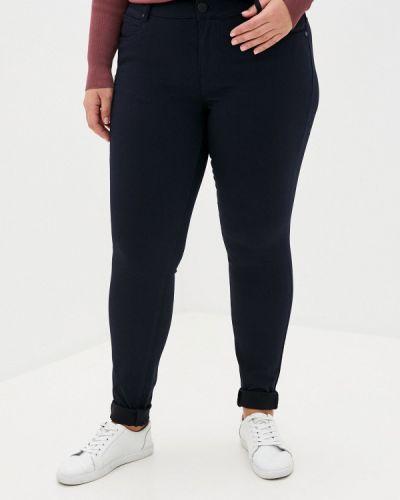 Синие прямые брюки Zizzi