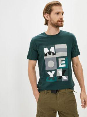 Зеленая футболка с короткими рукавами Mexx
