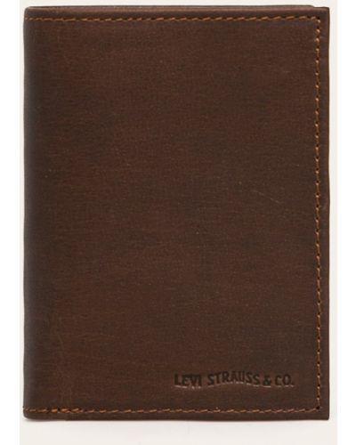 Кошелек кожаный темно-коричневый Levi's®