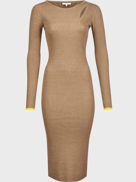 Коричневое шерстяное платье Patrizia Pepe