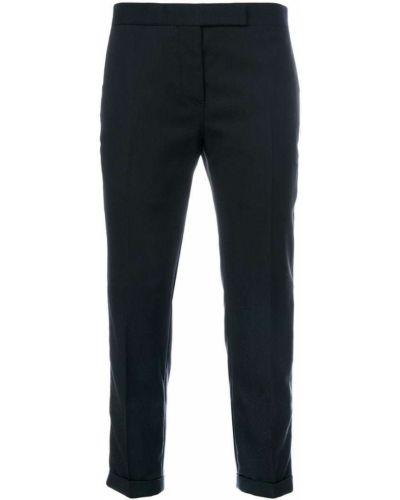 Укороченные брюки шерстяные шелковые Thom Browne