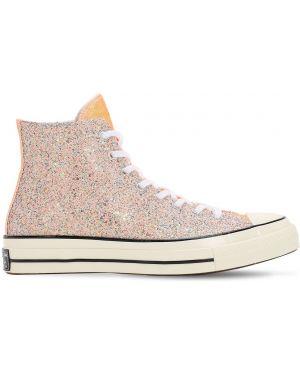 Białe sneakersy sznurowane koronkowe Converse X J.w.anderson