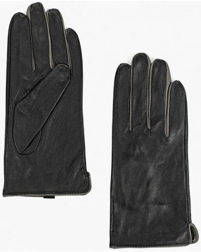 Черные кожаные перчатки Carpisa