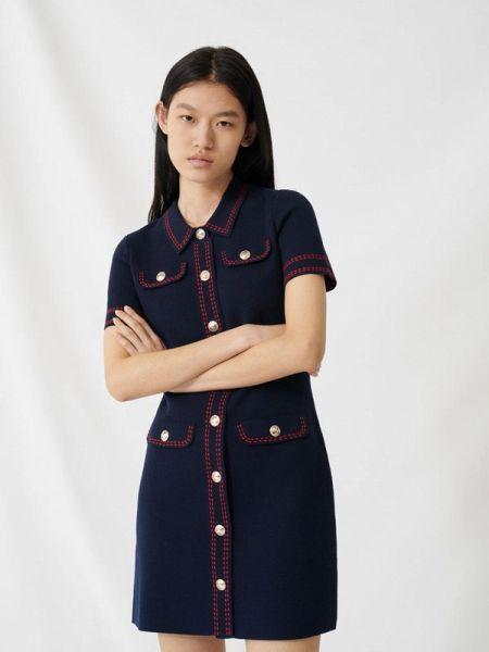 Повседневное платье синее весеннее Maje