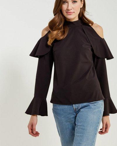 Черная блузка с рюшами Vittoria Vicci