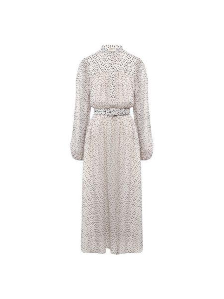 Платье с поясом шифоновое шелковое Adam Lippes
