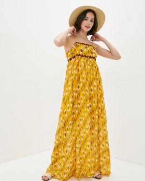 Желтый джинсовое платье Pepe Jeans